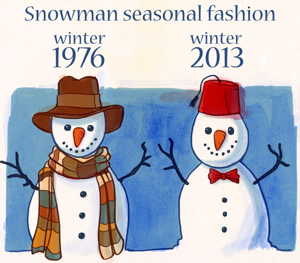 illustration of doctor who snowmen